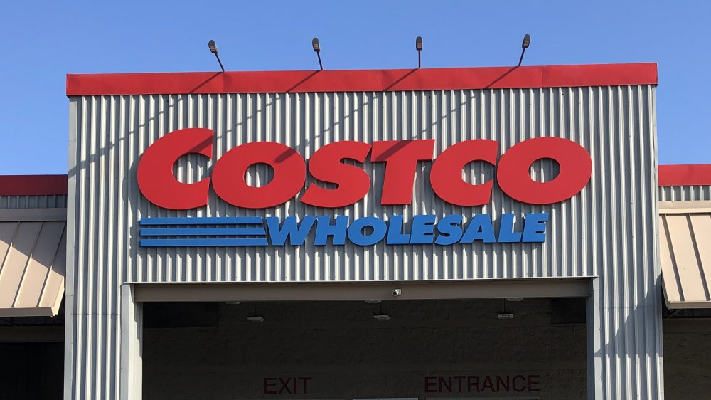 front of a Costco store