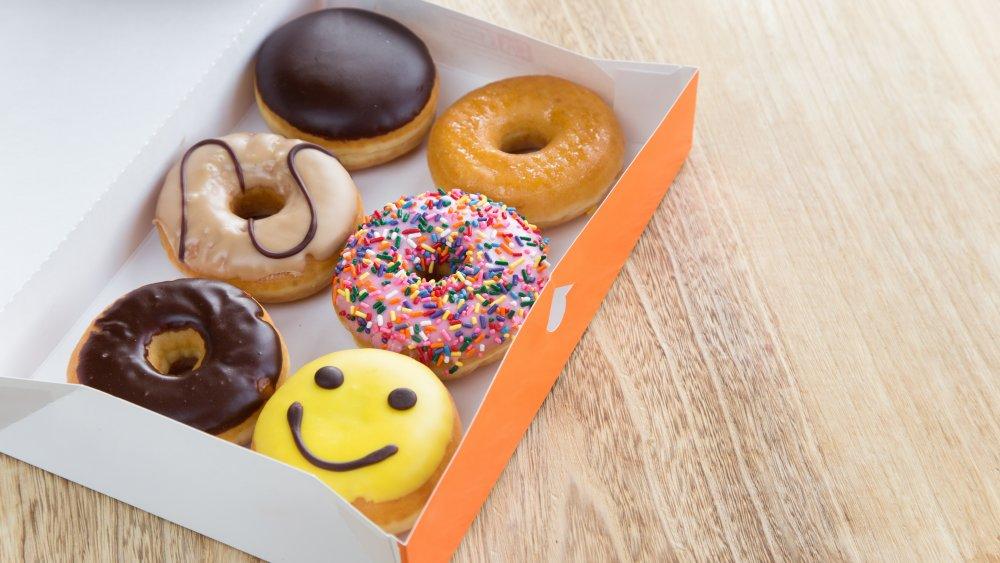 Box of Dunkin' donuts