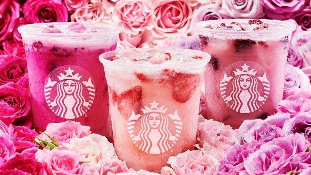 Pink Starbucks drinks