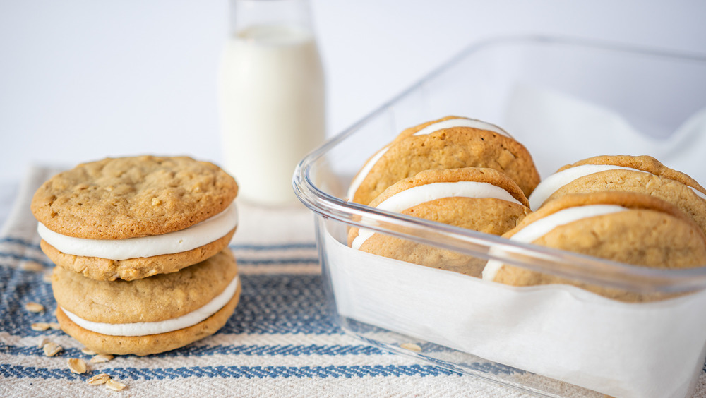 cookies in plastic container
