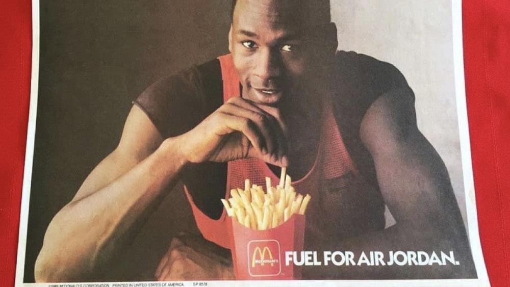 McJordan burger ad from McDonald's