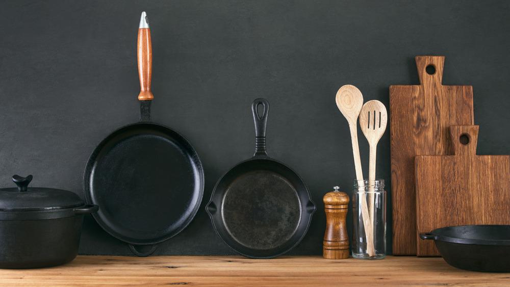 Cast iron cooking utensils
