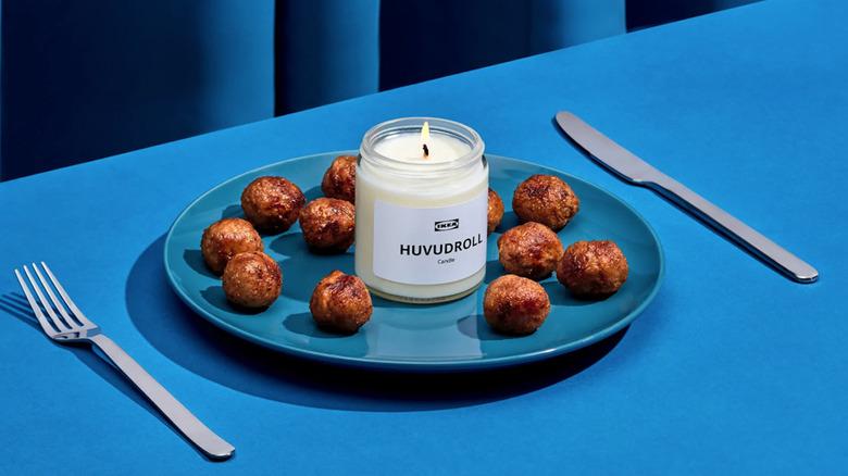 IKEA meatball scented candle