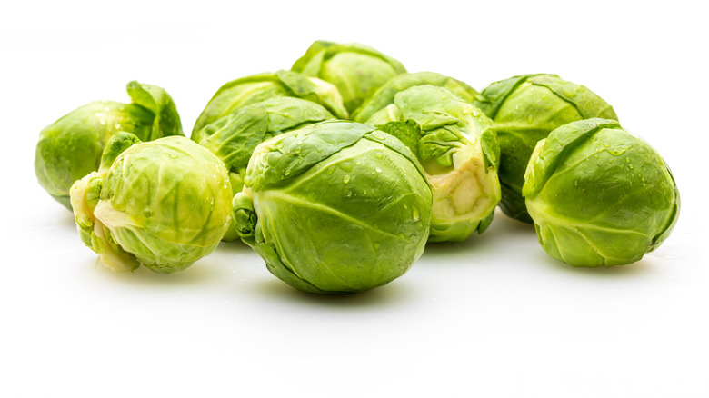 A photo of raw Brussels sprouts