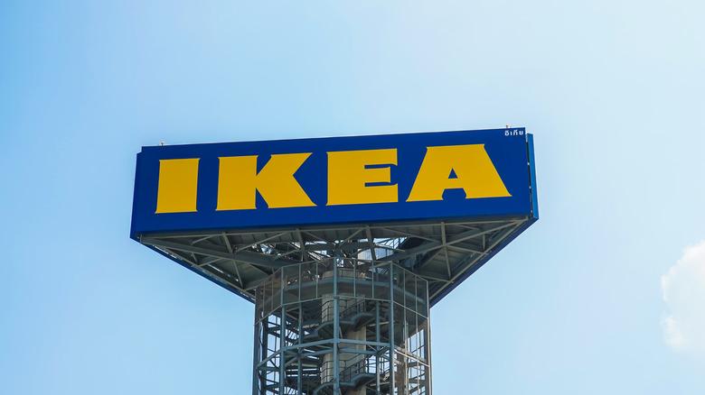 IKEA sign against blue sky