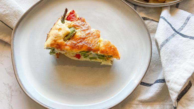 impossible veggie pie slice