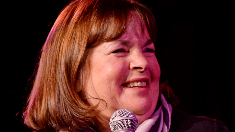 Ina Garten at the microphone