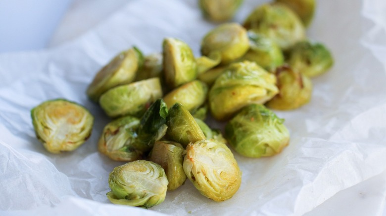 Brussels sprouts served