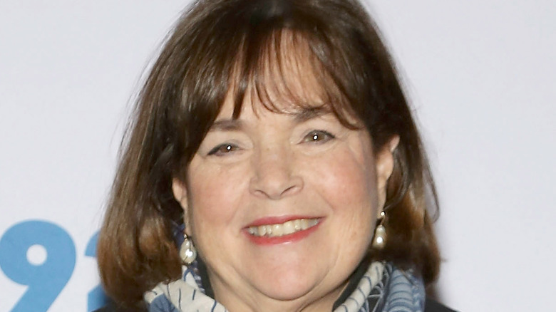 Ina Garten wearing a blue scarf and smiling