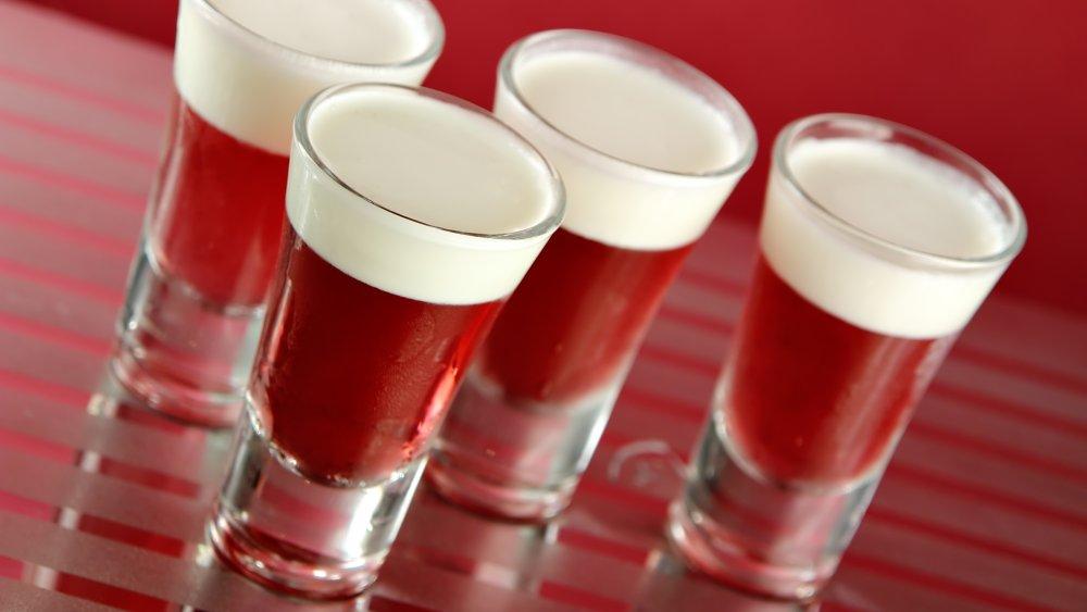 Jell-O and cream shots