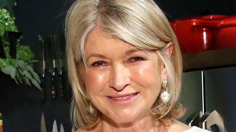 Martha Stewart smiling in kitchen