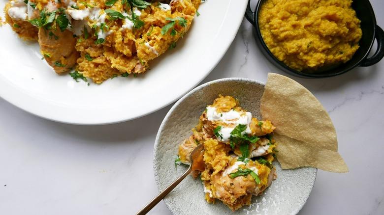 chicken biryani with dal