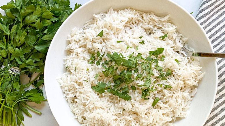 bowl of coconut rice