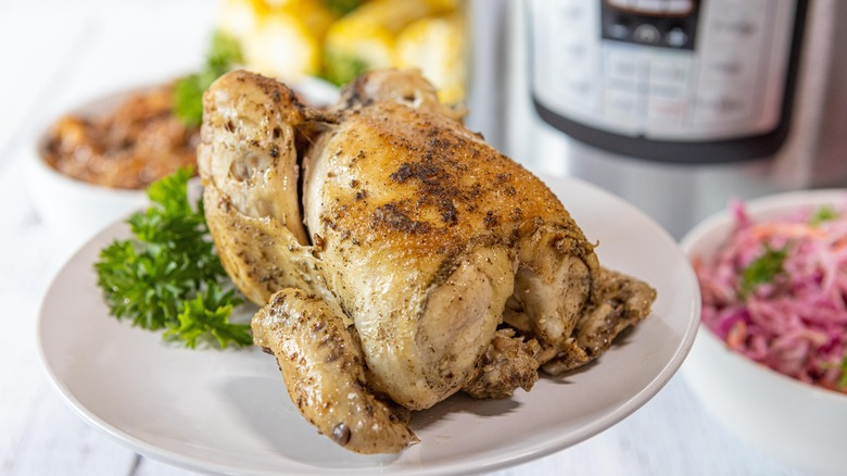 cooked cornish hen