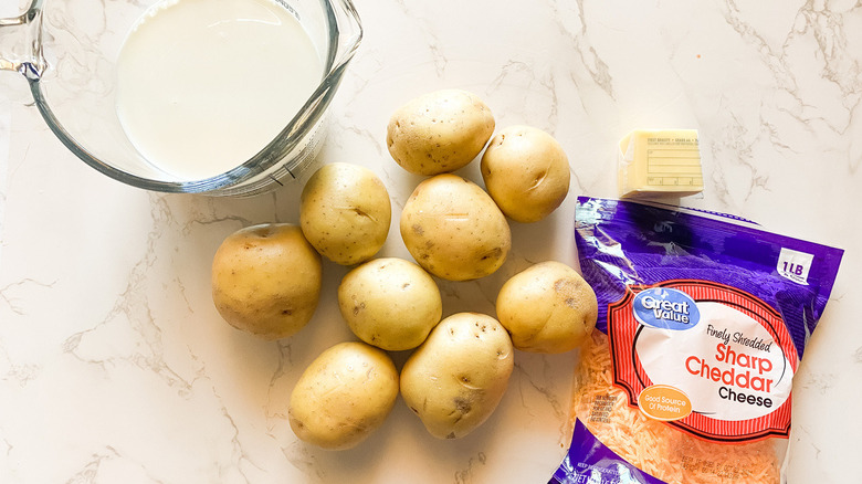 ingredients for scalloped potatoes