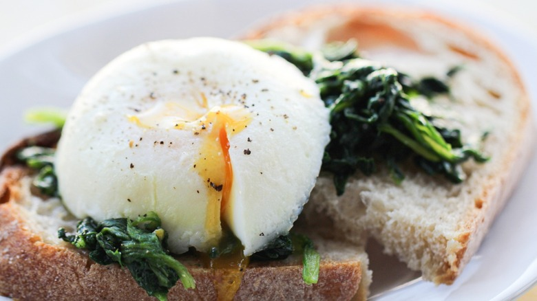 Instant Pot poached eggs served