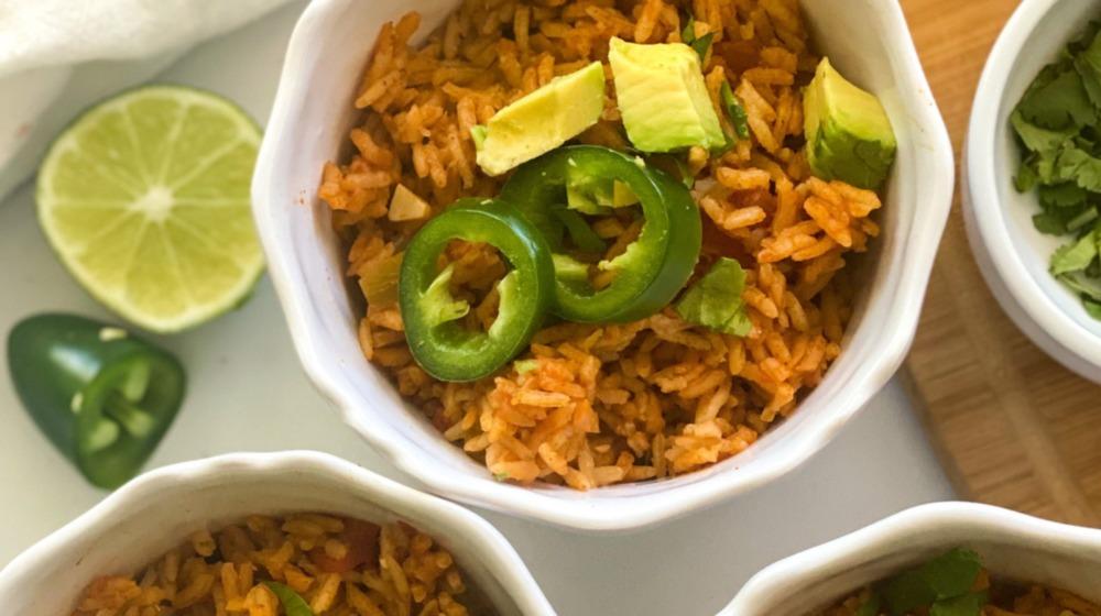 Instant Pot Spanish rice served