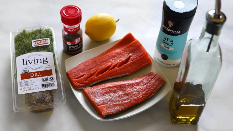 instant pot steamed salmon ingredients