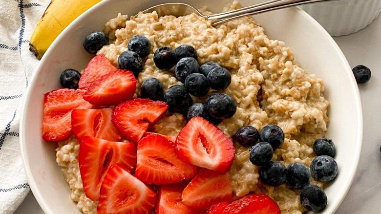 steel-cut oats with fruit