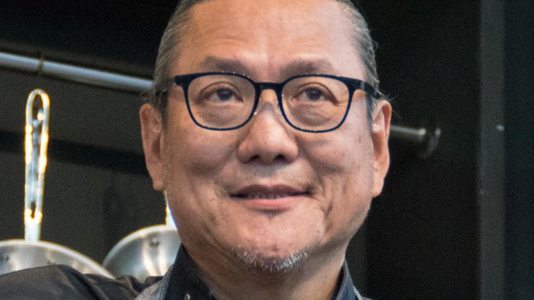 Iron Chef Masaharu Morimoto on stage