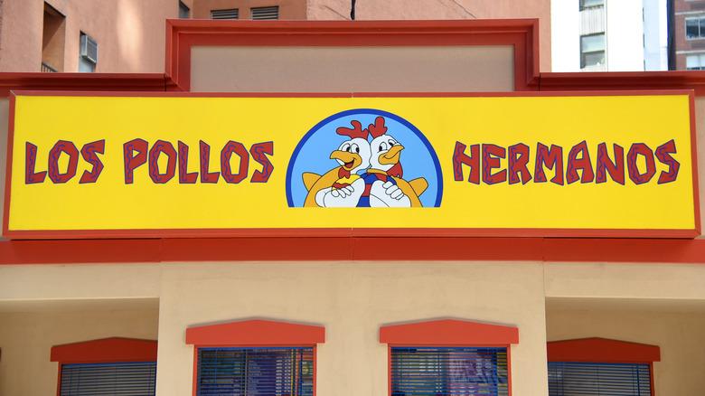 Los Pollos Hermanos pop-up restaurant sign