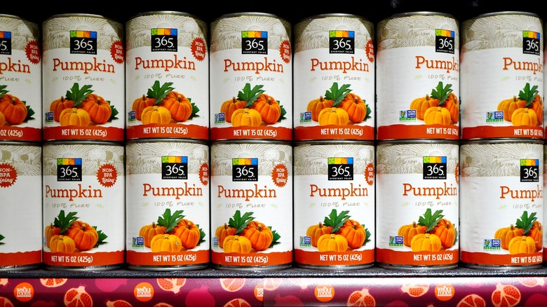 Whole Foods brand of canned pumpkin