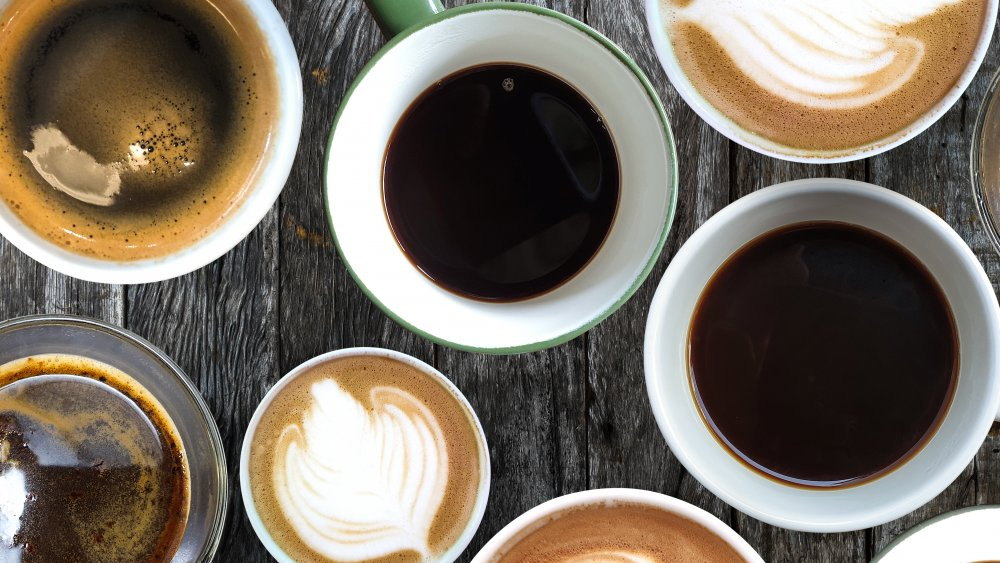 A collection of coffee cups