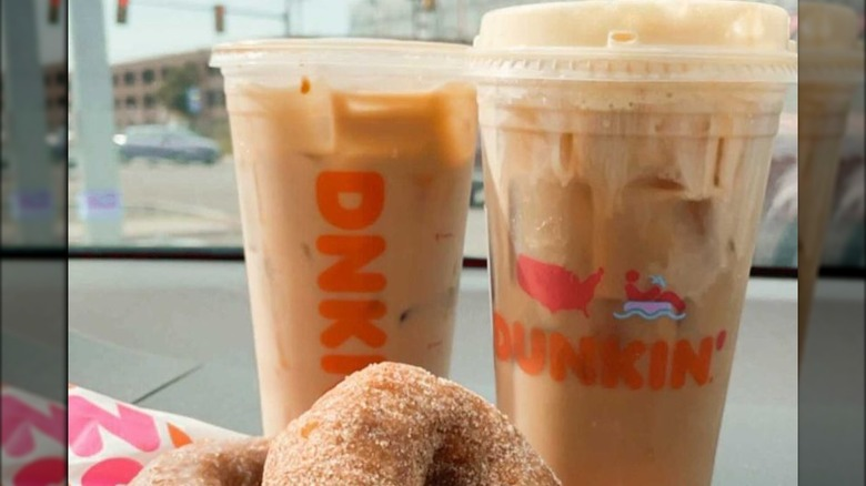 Dunkin Lattes and donuts