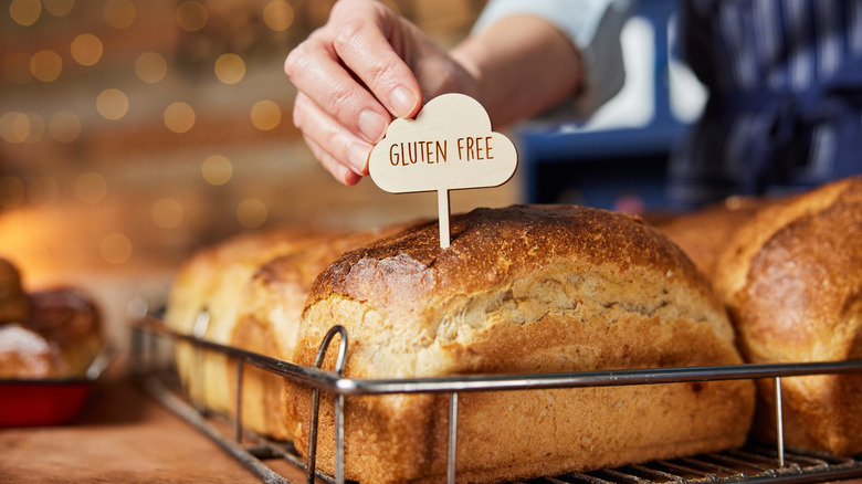 Gluten-free bread at bakery