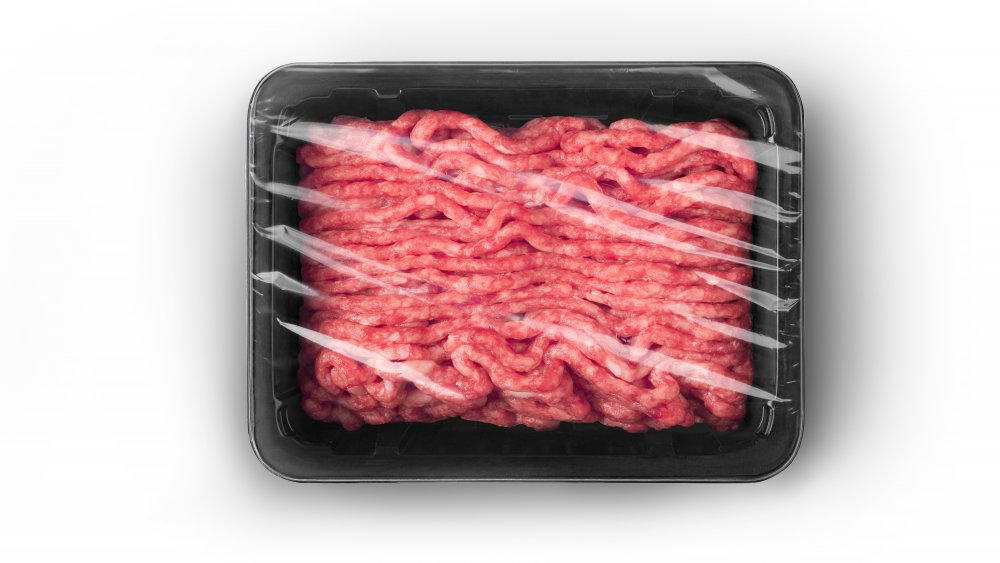 A package of ground beef