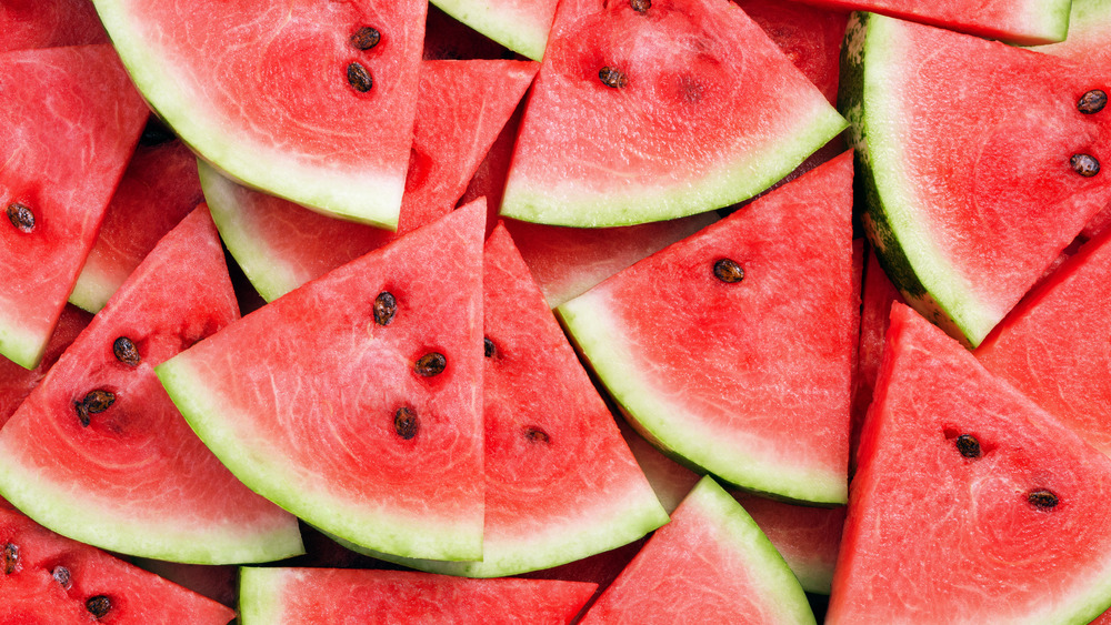 Slices of fresh watermelon