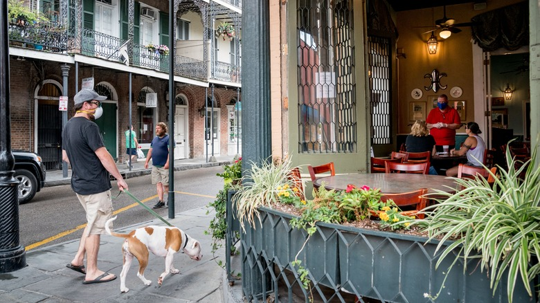 Reopened restaurant in New Orleans