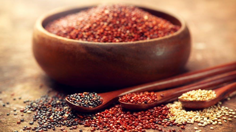red, white, and black quinoa
