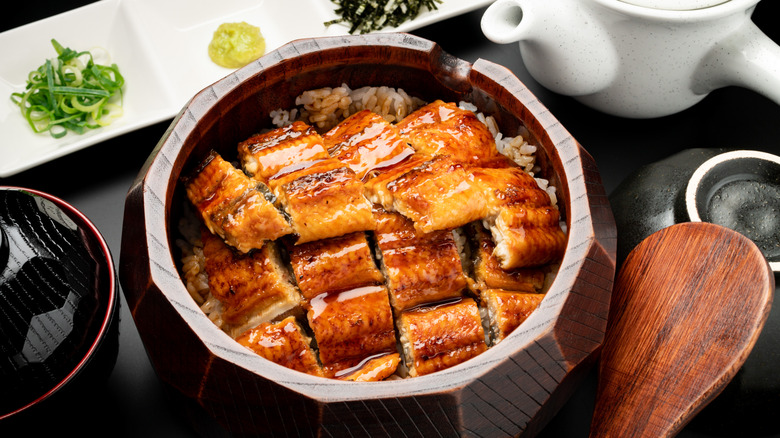 Grilled eel and rice