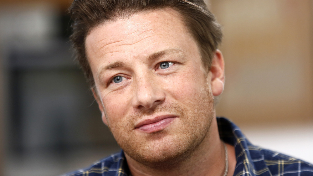 Jamie Oliver in plaid shirt