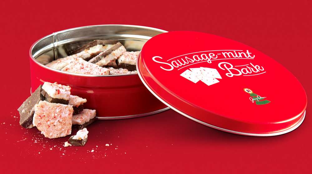 Jimmy Dean sausage-mint bark