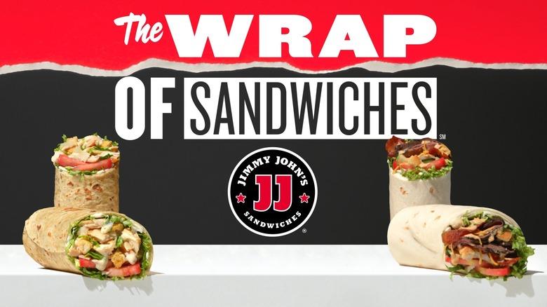 Jimmy John's wrap advertisement