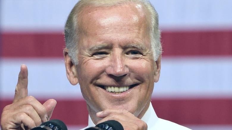Joe Biden smiles at event