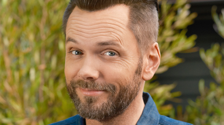 Joel McHale mixes a cocktail with Q Mixers