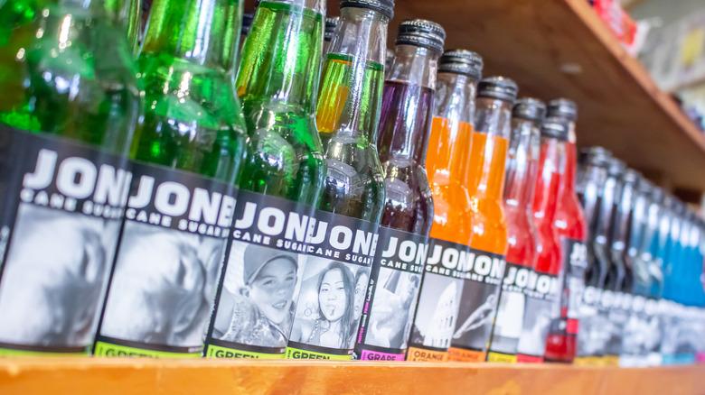 Jones Sodas on shelf