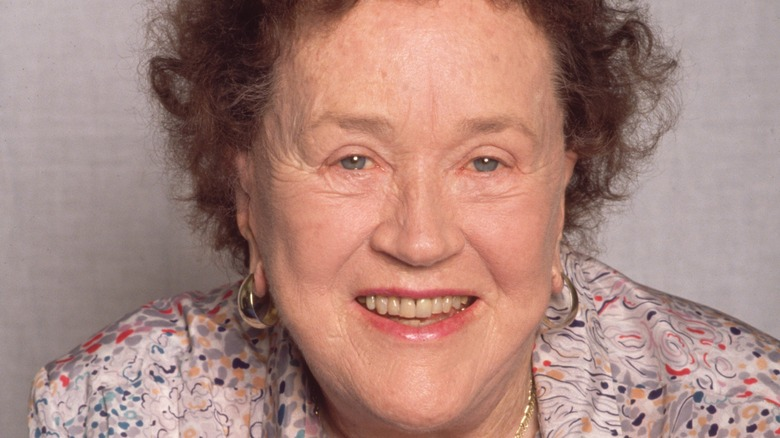 Julia Child smiling closeup