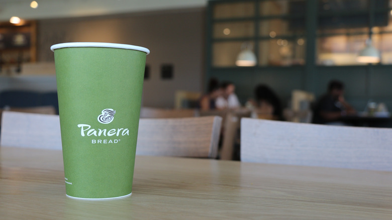 Panera coffee cup