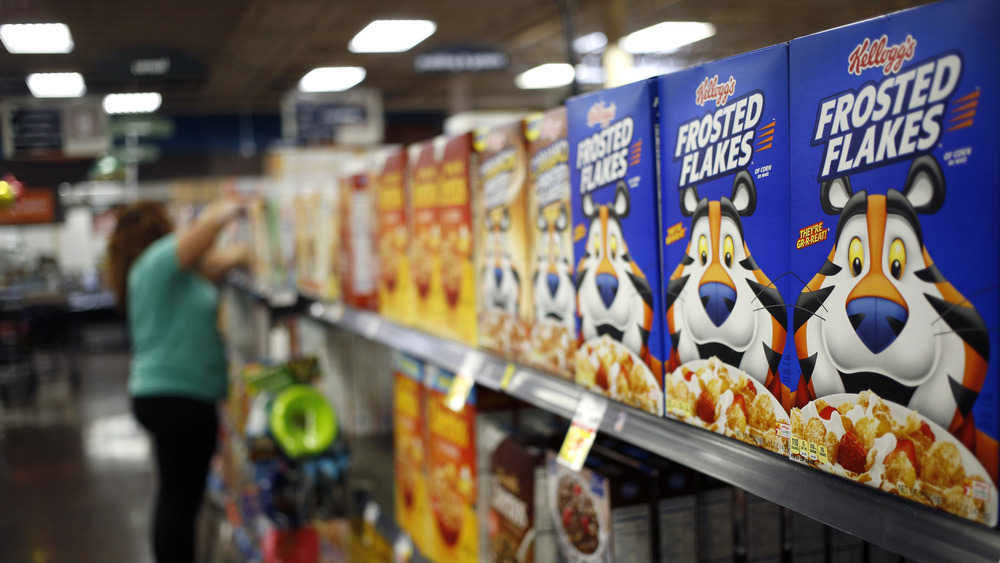 Frosted Flakes on a shelf