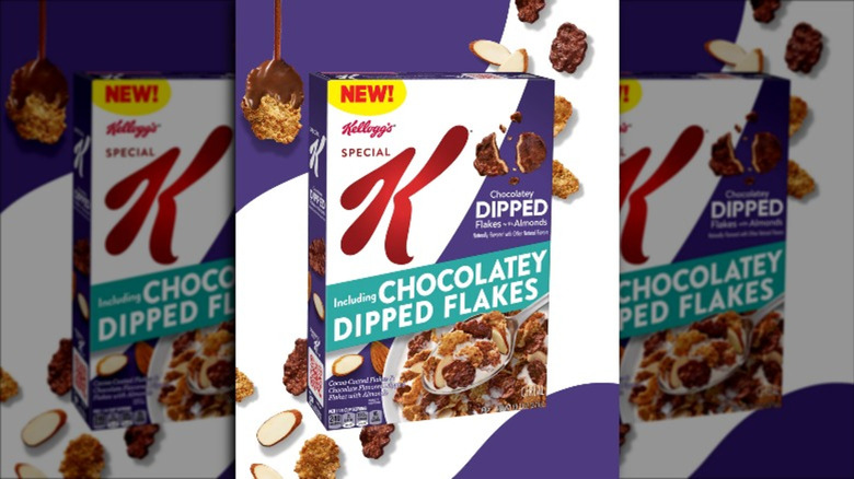 Box of Special K Dipped Chocolatey Almond cereal