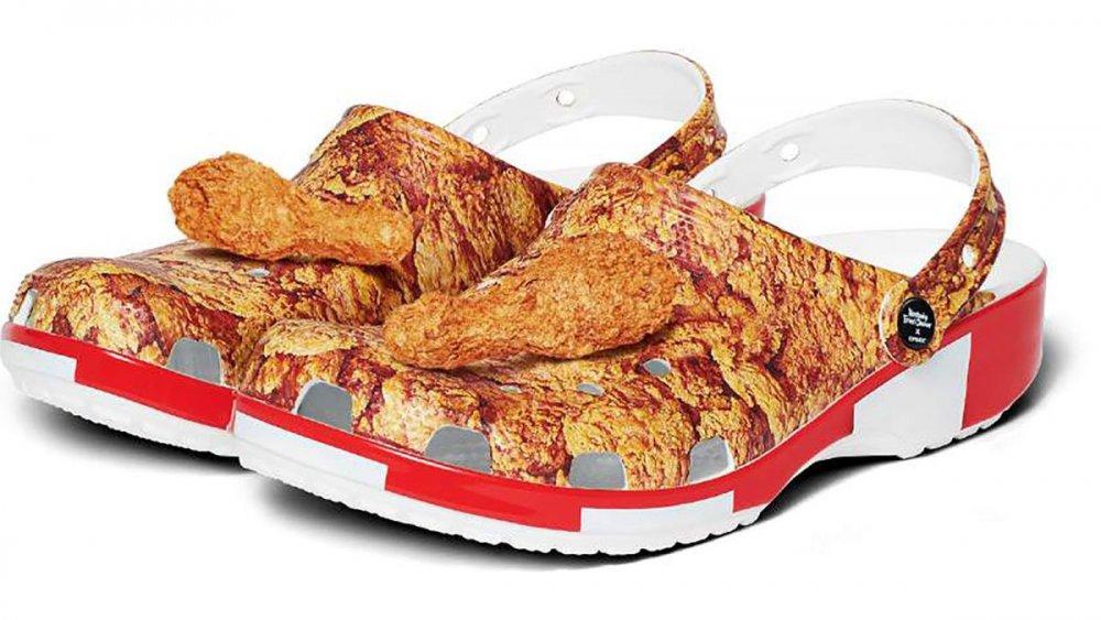 KFC branded crocs