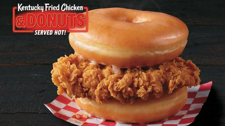 Kentucky Fried Chicken & Donuts Sandwich