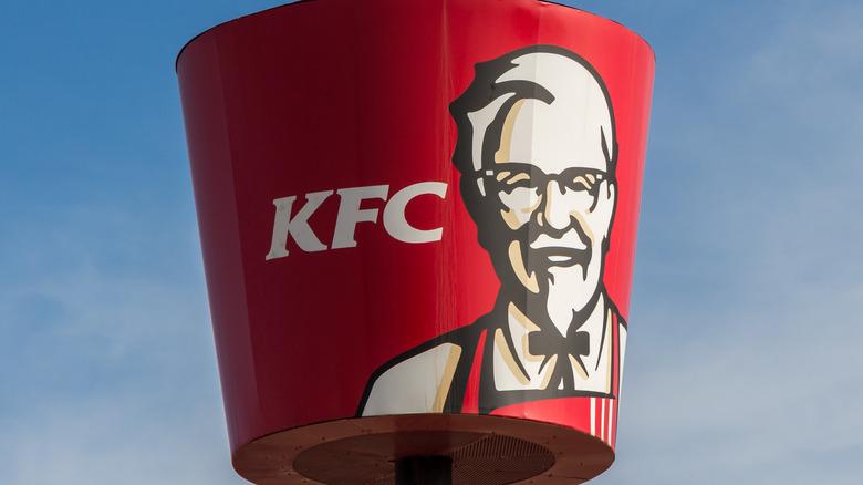 Exterior KFC sign