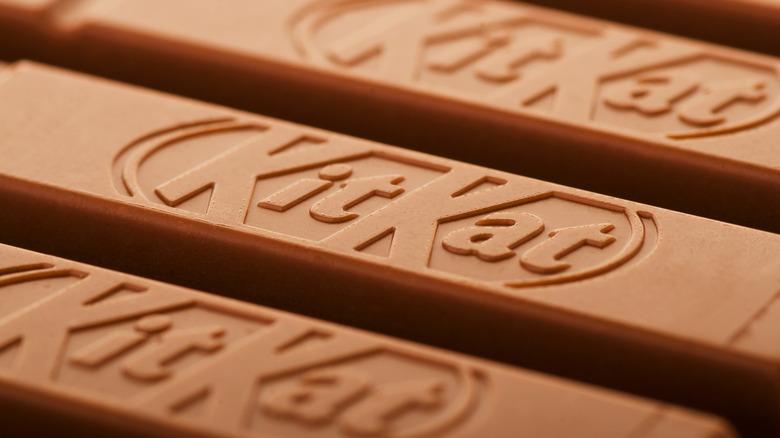 close-up of Kit Kat bar