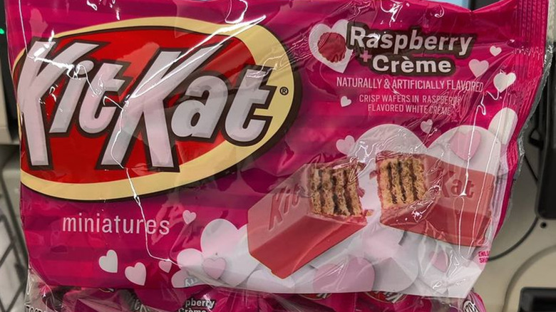 Package of raspberry & crème Kit Kats