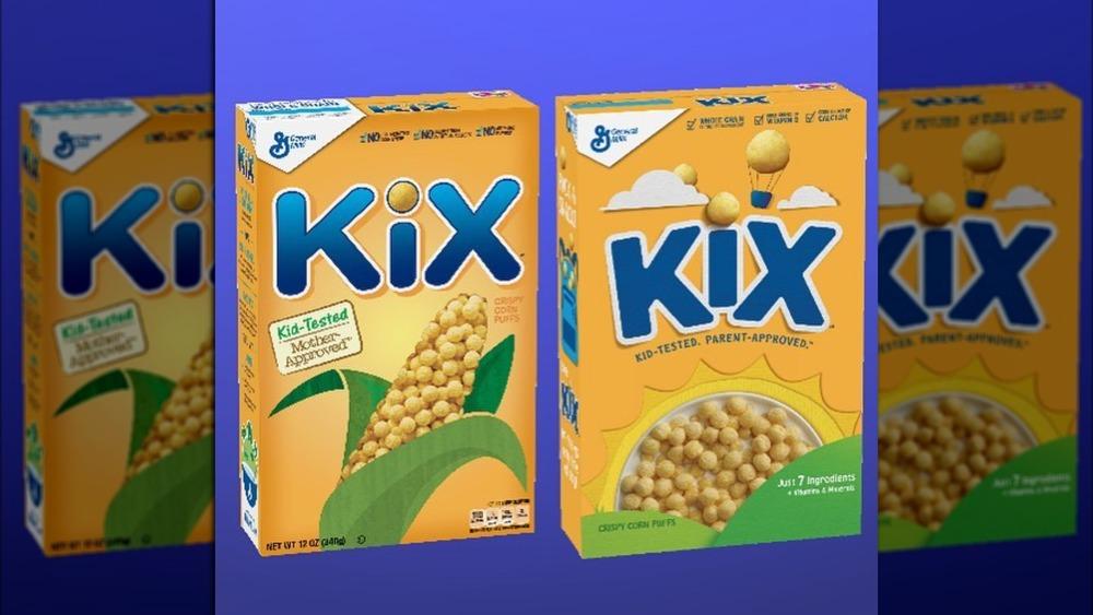 Kix cereal in jar